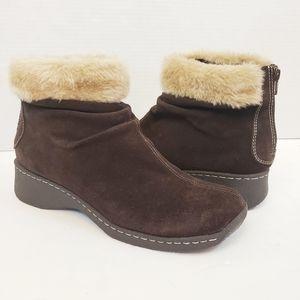 BareTraps Kitchen Winter Suede Snow Boots Faux Fur